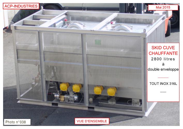 Cuve chauffante électrique 48 kW